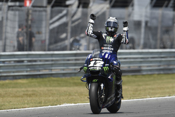 Race winner Maverick Vinales, Yamaha Factory Racing.