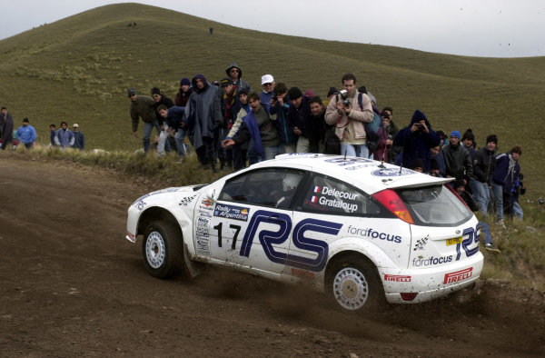2001 World Rally Championship. ArgentinaMay 3rd-6th, 2001Francois Delecour on stage seven.Photo: Ralph Hardwick/LAT