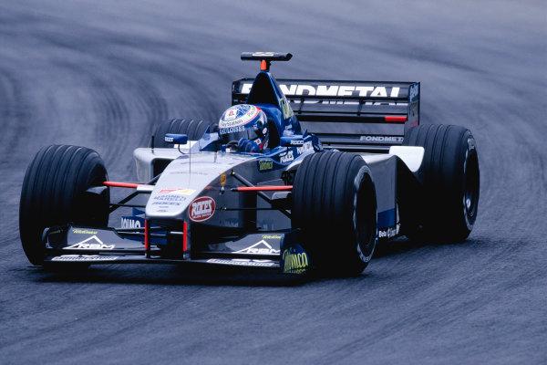 1999 Brazilian Grand Prix.Interlagos, Sao Paulo, Brazil. 9-11 April 1999.Stephane Sarrazin (Minardi M01 Ford) on his Grand Prix debut.Ref-99 BRA 97.World Copyright - Charles Coates/LAT Photographic