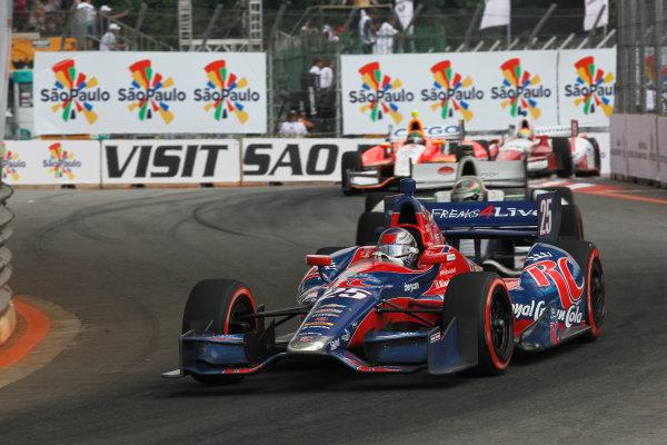 4-5 May, 2013, Sao Paulo, Brazil Marco Andretti leads Simona De Silvestro, EJ Viso and Justin Wilson ©2013, Phillip Abbott LAT Photo USA