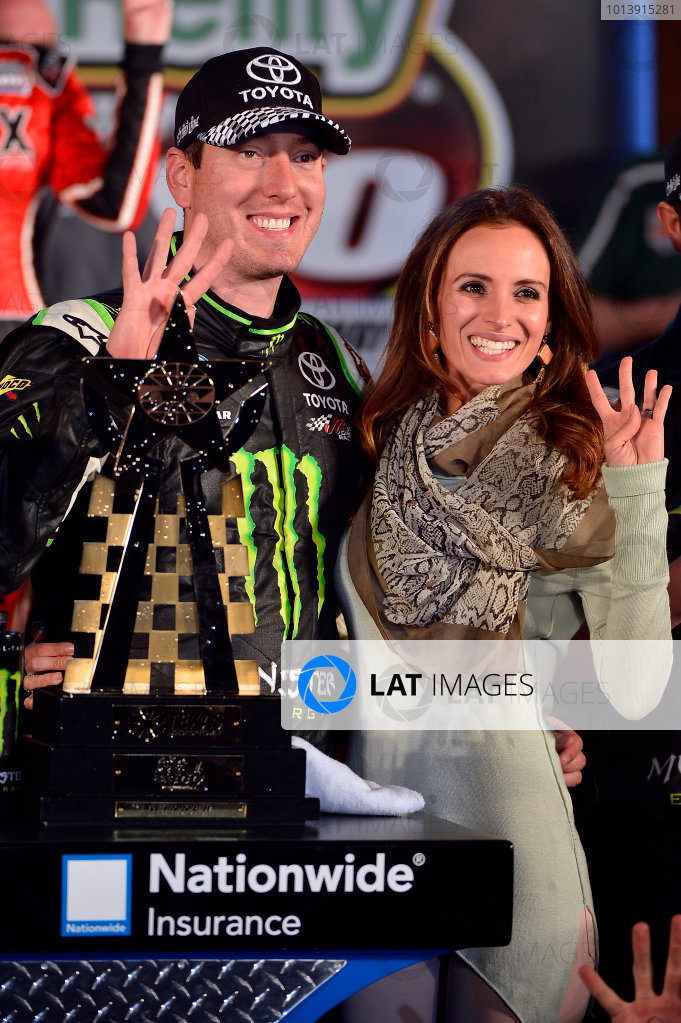 April 11-12, 2013 Fort Worth, Texas USA Kyle  and Samantha Busch, Monster Energy Toyota Camry in Victory Lane © 2013, Brian Czobat LAT Photo USA .