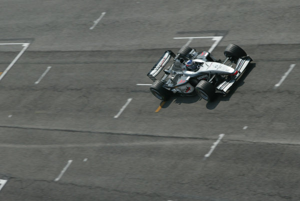 2003 San Marino Grand Prix - Friday 1st QualifyingImola, Italy. 18th April 2003Kimi Raikkonen, Team McLaren Mercedes MP4-17D, action.World Copyright: Steve Etherington/LAT Photographic ref: Digital Image Only