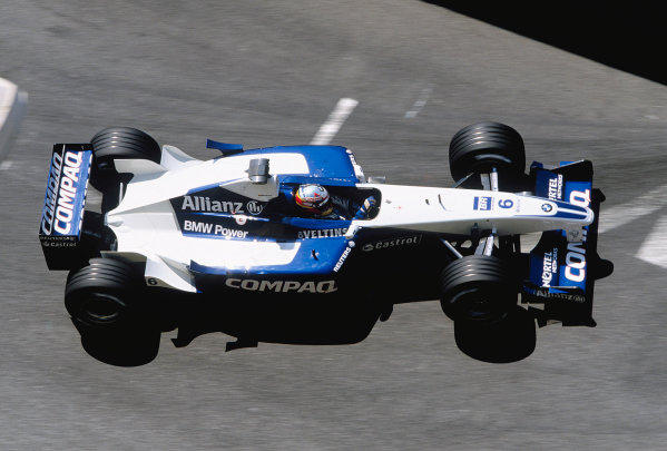 2001 Monaco Grand Prix. Monte Carlo, Monaco.  24-27 May 2001. Juan-Pablo Montoya (Williams FW23 BMW). Ref-01 MON 34. World Copyright - Charles Coates/LAT Photographic