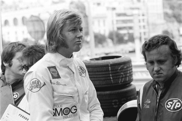 Ronnie Peterson(SWE) left, with MARCH director Alan Rees, Ronnie finished 2nd Monaco GP, 23 May 1971