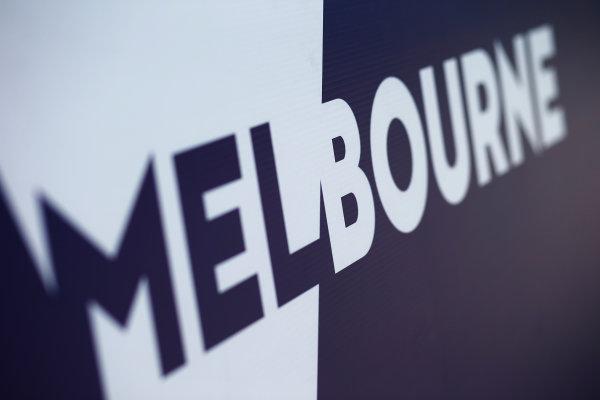 Albert Park, Melbourne, Australia. Tuesday 15 March 2016. Melbourne GP logo World Copyright: Sam Bloxham/LAT Photographic. ref: Digital Image _L4R9700