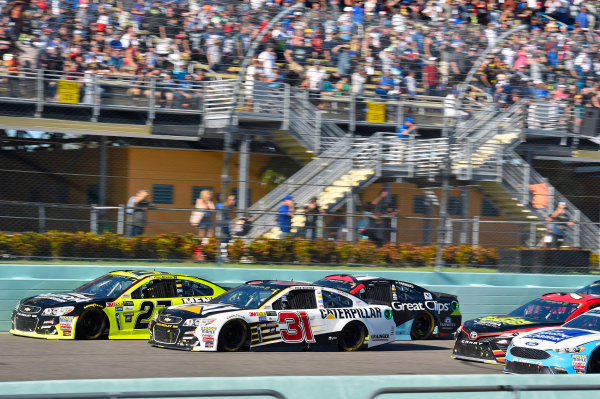 Monster Energy NASCAR Cup Series Ford EcoBoost 400 Homestead-Miami Speedway, Homestead, FL USA Sunday 19 November 2017 Ryan Newman, Richard Childress Racing, Caterpillar Chevrolet SS and Paul Menard, Richard Childress Racing, Richmond/Menards Chevrolet SS World Copyright: Nigel Kinrade LAT Images