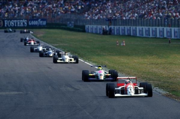 Allan McNish (GBR) DAMS Lola T91/50 Mugen retired after five laps with gearbox problems.International Formula 3000 Championship, Hockenheim, Germany, 27 July 1991