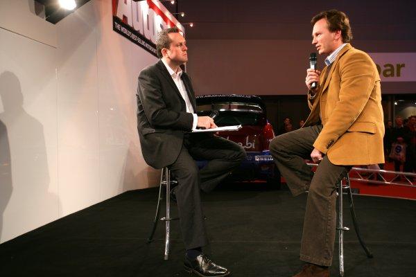 2008 Autosport International Show - ThursdayNEC, Birmingham. 10th January 2008.Henry Hope-Frost and Christian Horner on stage.World Copyright: Alastair Staley/LAT Photographicref: Digital Image ZP9O6689