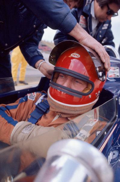 Ontario, California, USA. 3rd - 10th March 1974. Gary Bettenhausen (McLaren-Offenhauser), 20th position, portrait. World Copyright: Murenbeeld/LAT Photographic