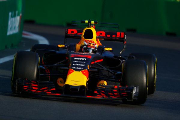 Baku City Circuit, Baku, Azerbaijan. Friday 23 June 2017. Max Verstappen, Red Bull Racing RB13 TAG Heuer.  World Copyright: Steven Tee/LAT Images ref: Digital Image _O3I1680