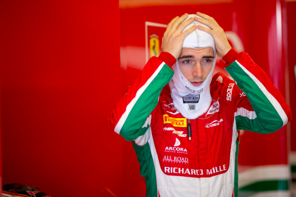 Circuit de Barcelona Catalunya, Barcelona, Spain. Tuesday 14 March 2017. Charles Leclerc (MON, PREMA Racing).  Photo: Alastair Staley/FIA Formula 2 ref: Digital Image 585A7718