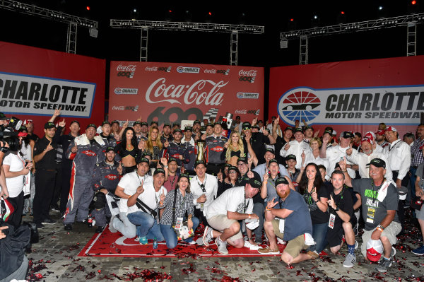 Monster Energy NASCAR Cup Series Coca-Cola 600 Charlotte Motor Speedway, Concord, NC USA Monday 29 May 2017 Austin Dillon, Richard Childress Racing, Dow Salutes Veterans Chevrolet SS celebrates his win in Victory Lane World Copyright: Nigel Kinrade LAT Images ref: Digital Image 17CLT2nk10556
