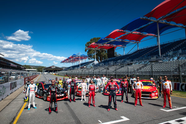 2017 Supercars Championship Round 1.  Clipsal 500, Adelaide, South Australia, Australia. Thursday March 2nd to Sunday March 5th 2017. 2017 drivers group photo. World Copyright: Daniel Kalisz/LAT Images Ref: Digital Image 010217_VASCR1_DKIMG_0077.JPG