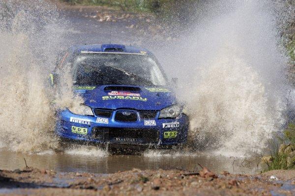 2008 FIA World Rally ChampionshipRound 06Rally d'Italia Sardegna 200815-18 of May 20Mads Ostberg, Subaru WRC, Aktion