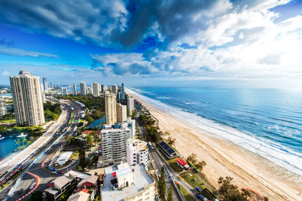 2017 Supercars Championship Round 12.  Gold Coast 600, Surfers Paradise, Queensland, Australia. Friday 20th October to Sunday 22nd October 2017. A view of Surfers Paradise and the Gold Coast 600 circuit. World Copyright: Daniel Kalisz/LAT Images Ref: Digital Image 201017_VASCR12_DKIMG_0113.jpg