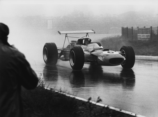 Nurburgring, Germany. 2nd - 4th August 1968. RD8.Jackie Stewart (Matra MS10-Ford), 1st position, action.World Copyright: LAT Photographic.Ref: B/W Print.