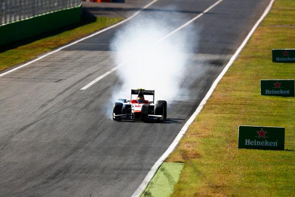 Autodromo Nazionale di Monza, Italy. Sunday 3 September 2017 Robert Visoiu (ROU, Campos Racing).  Photo: Bloxham/FIA Formula 2 ref: Digital Image _W6I4724