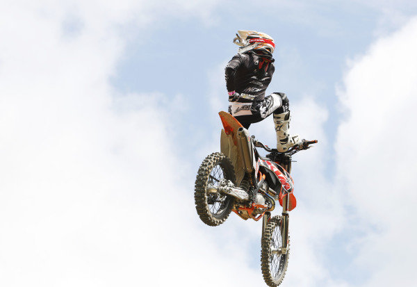 2015 Goodwood Festival of Speed.  Goodwood Estate, West Sussex, England. 25th - 28th June 2015.  Freestyle motocross in the GAS Arena.  Ref: KW5_3666a. World copyright: Kevin Wood/LAT Photographic