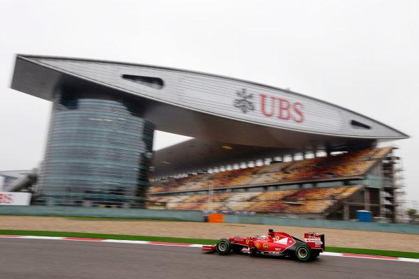 Shanghai International Circuit, Shanghai, China. Saturday 19 April 2014. Fernando Alonso, Ferrari F14T. World Copyright: Charles Coates/LAT Photographic. ref: Digital Image _N7T2528