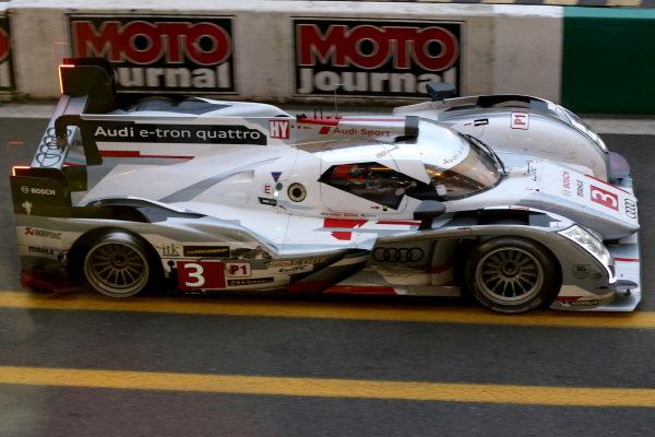 Marc Gene (ESP) / Lucas Di Grassi (BRA) / Oliver Jarvis (GBR) Audi Sport Team Joest Audi R18 E-Tron Quattro. Le Mans 24 Hours, Le Mans, France, 20-23 June 2013.
