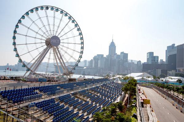 2016/2017 FIA Formula E Championship. Hong Kong ePrix, Hong Kong, China. Thursday 6 October 2016. A view of the circuit. Photo: Zak Mauger/LAT/Formula E ref: Digital Image _X0W0662