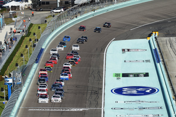 NASCAR Xfinity Series Homestead-Miami Speedway, Homestead, Florida USA Saturday 18 November 2017 Start: Tyler Reddick, Chip Ganassi Racing Chevrolet, Cole Custer, Stewart-Haas Racing Ford lead  World Copyright: Rainier Ehrhardt / LAT Images ref: Digital Image DSC_0952