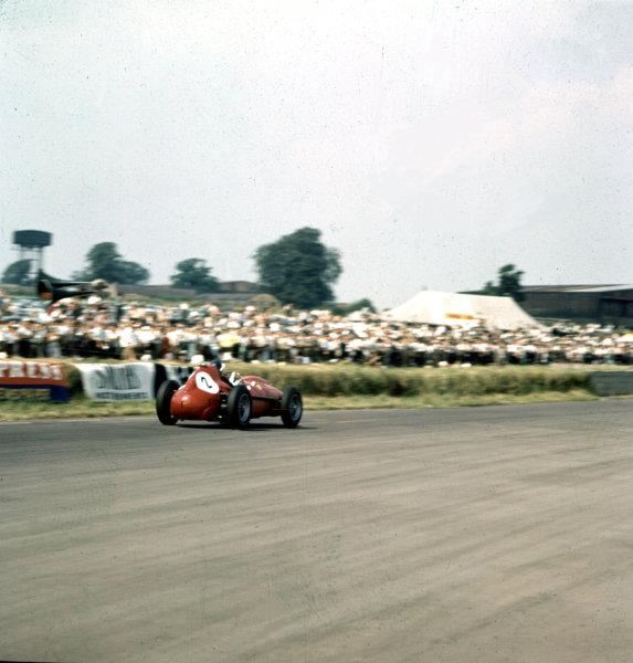1958 British Grand Prix.Silverstone, England.17-19 July 1958.Mike Hawthorn (Ferrari Dino 246) 2nd position.Ref-3/0096.World Copyright - LAT Photographic