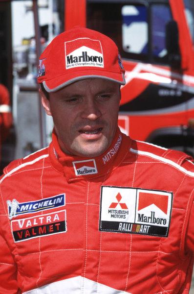 FIA World Rally ChampionshipPortuguese Rally, Porto, Portugal16-19th March 2000.Tommi Makinen-Mitsubishi-Portrait.World - LAT PhotographicTel: +44 (0) 181 251 3000Fax: +44 (0) 181 251 3001e-mail: latdig@dial.pipex com