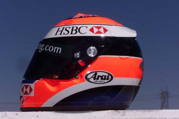 2000 Australian Grand Prix, Calder Park Raceway, Melbourne Australia.Johnny Herbert Helmet LaunchWorld - LAT Photographic Tel: (0)208 251 3000Fax:(0)208 251 3001email: digital@latphoto.co uk