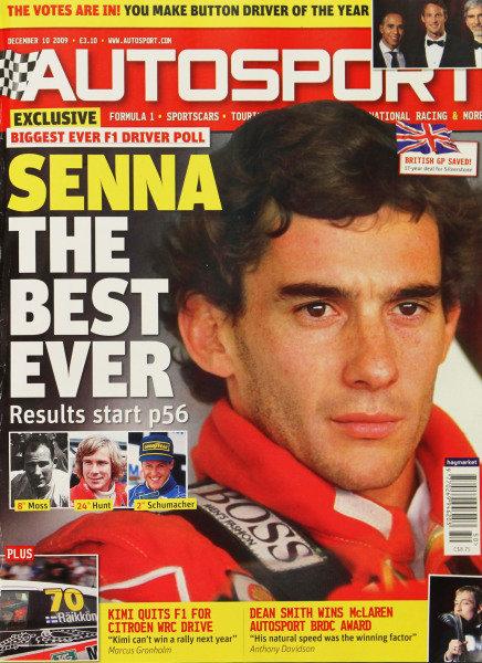 Cover of Autosport magazine, 10th December 2009