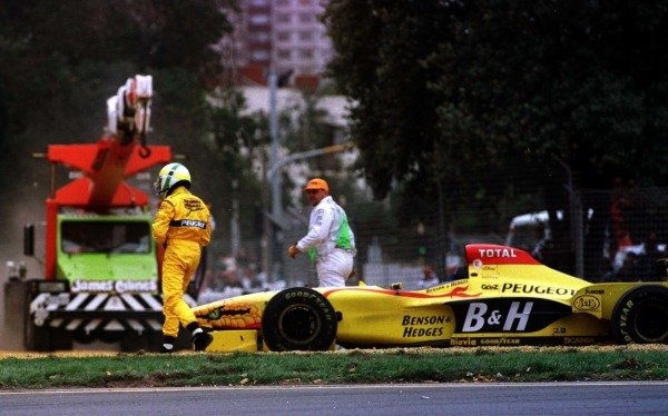 1997 Australian Grand Prix.Albert Park, Melbourne, Australia.7-9 March 1997.Giancarlo Fisichella (Jordan 197 Peugeot).World Copyright - LAT Photographic