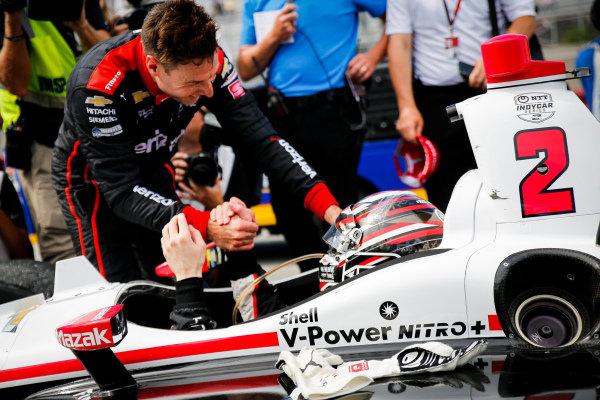 Josef Newgarden, Team Penske Chevrolet celebrates winning the NTT IndyCar Series Championship