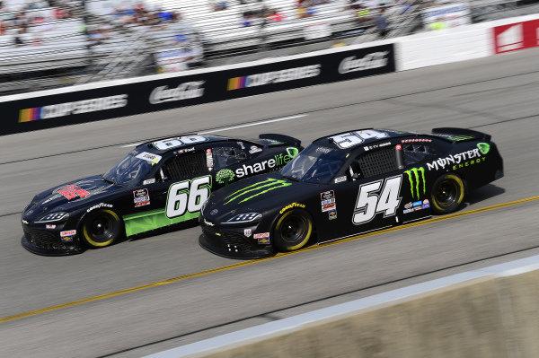 #66: David Starr, Motorsports Business Management, Ford Mustang, #54: Ty Gibbs, Joe Gibbs Racing, Toyota Supra Joe Gibbs Racing