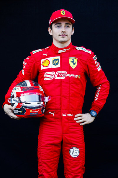 Official Portrait of Charles Leclerc, Ferrari