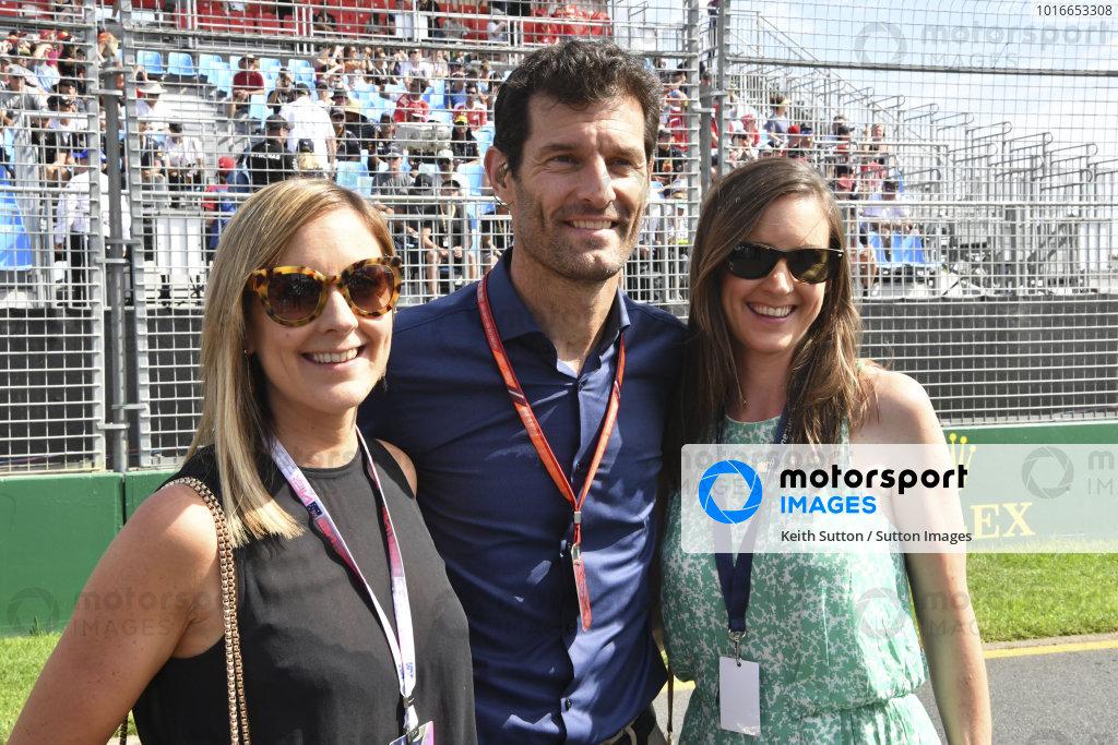 Mark Webber (AUS) on the grid with Natalie Schenken (AUS) at Formula One World Championship, Rd1, Australian Grand Prix, Race, Albert Park, Melbourne, Australia, Sunday 26 March 2017.