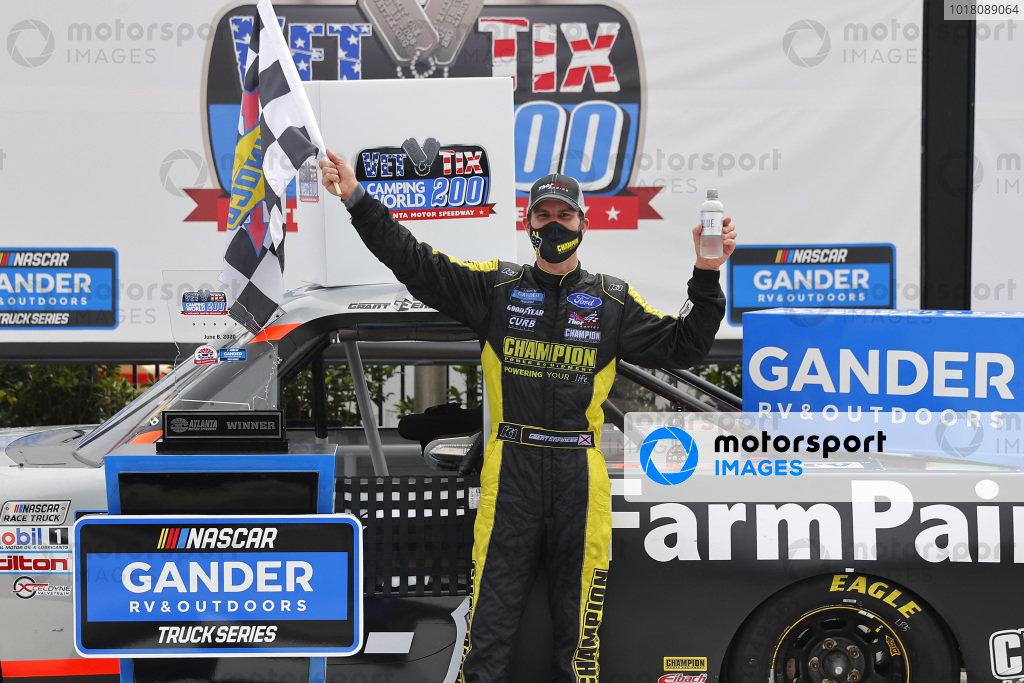 Race winner Grant Enfinger, ThorSport Racing Ford Farm Paint, Copyright: Chris Graythen/Getty Images.