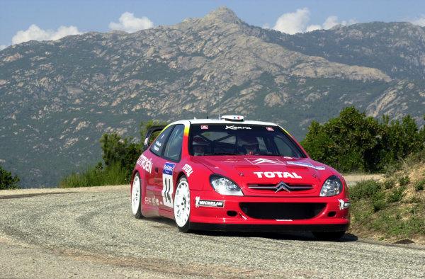 2001 World Rally Championship.Rallye de France, Ajaccio, Corsica, October 19-21.Philippe Bugalski during shakedown.Photo: Ralph Hardwick/LAT