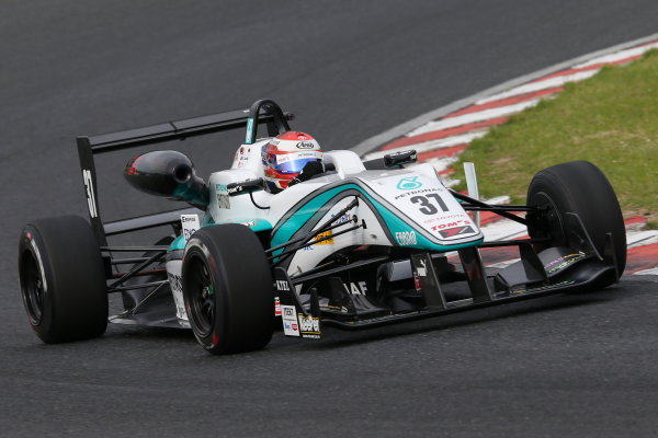 2015 Japanese Formula 3 Championship. Okayama, Japan. 23rd - 24th May 2015. Rd 6 & 7. Rd.6 Winner Nick Cassidy ( #37 PETRONAS TOM'S F314 ) action World Copyright: Masahide Kamio/LAT Photographic. Ref:  2015JF3_Rd6&7_003