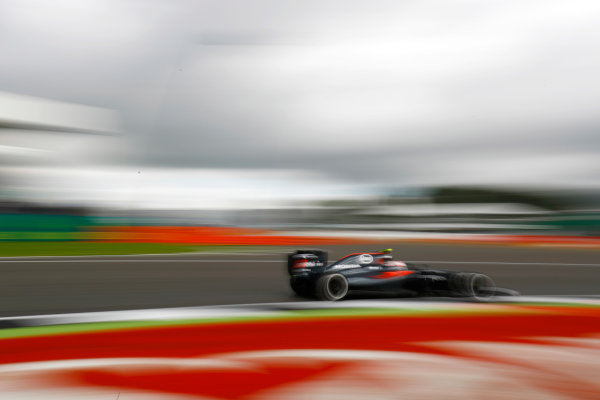 Silverstone, Northamptonshire, UK Friday 08 July 2016. Jenson Button, McLaren MP4-31 Honda.  World Copyright: Steven Tee/LAT Photographic ref: Digital Image _H7I5457