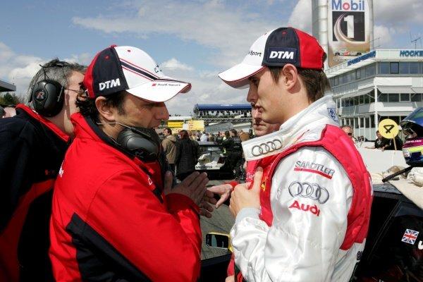 Olivier Jarvis (GBR)  Audi Sport Team Phoenix on the grid DTM, Rd 1, Hockenheim, Germany, 12-13 April 2008.