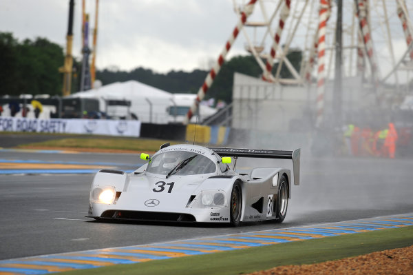 Circuit de La Sarthe, Le Mans, France. 13th - 17th June 2012.  Group C. Bob Berridge, No.31 Mercedes C11, enroute to victory. Photo: Jeff Bloxham/LAT Photographic.   ref: Digital Image DSC_2666