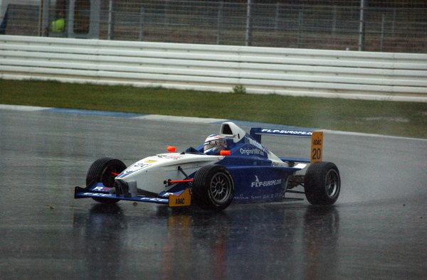 Maro Engel (GER), Eifelland racing, finished 2nd in the Sunray race which was held under extreme wet conditions.Formula BWM ADAC Championship, Rd10, Hockenheim, Germany. 05-06 October 2002.DIGITAL IMAGE
