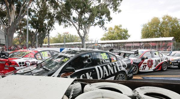 Round 3 -  Clipsal 500Adelaide Street Circuit, Adelaide, South Australia. 14th March 2010.Race action.World Copyright: Mark Horsburgh/LAT Photographic.ref: Digital Image Crash-EV03-10-6829 jpg