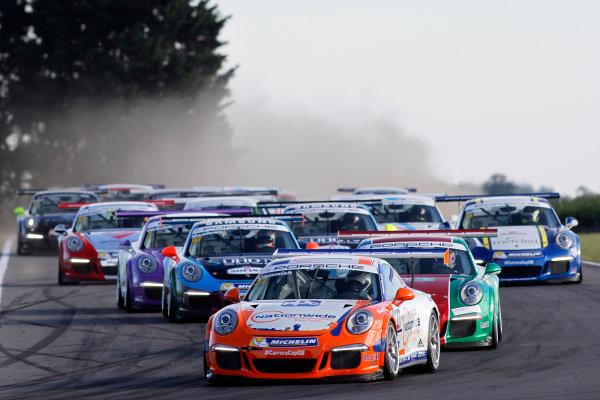 2015 Porsche Carrera Cup, Snetterton, Norfolk. 8th-9th August 2015, Dan Cammish (GBR) Redline Racing Porsche Carrera Cup  World copyright.Jakob Ebrey/LAT Photographic