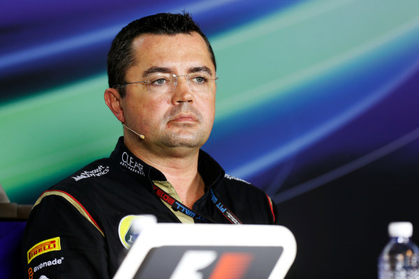 Marina Bay Circuit, Singapore. Friday 20th September 2013.  Eric Boullier, Team Principal, Lotus F1.  World Copyright: Alastair Staley/LAT Photographic. ref: Digital Image _R6T0971