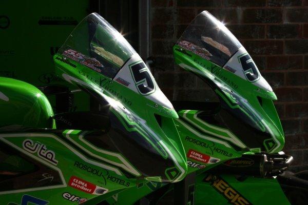 2007 World Superbike Championship. Brands Hatch, England. 3rd - 5th August 2007. Kawasaki fairings, detail. World Copyright: Kevin Wood/LAT Photographic ref: Digital Image