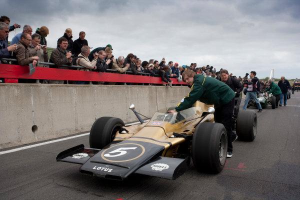 Snetterton, Norfolk. UK. 20th June 2010.Historic Team Lotus F1 Cars. World Copyright: Alastair Staley/LAT PhotographicDigital Image _P9O9505 jpg