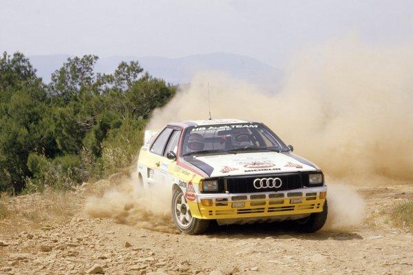 1984 World Rally Championship.Acropolis Rally, Greece. 26-31 May 1984.Stig Blomqvist/Bjorn Cederberg (Audi Quattro A2), 1st position.World Copyright: LAT PhotographicRef: 35mm transparency 84RALLY15