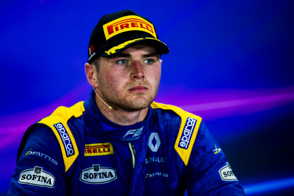 2017 FIA Formula 2 Round 1. Bahrain International Circuit, Sakhir, Bahrain.  Sunday 16 April 2017. Oliver Rowland (GBR, DAMS)  Photo: Zak Mauger/FIA Formula 2. ref: Digital Image _56I2201