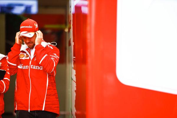 Shanghai International Circuit, Shanghai, China.  Friday 7 April 2017. Sebastian Vettel, Ferrari. World Copyright: Andrew Hone/LAT Images ref: Digital Image _ONZ4238